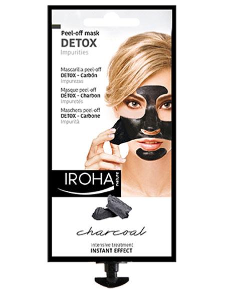 Черна маска с активен въглен и плодови екстракти. Детоксикираща PEEL-OFF маска