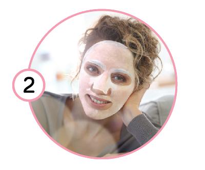 Начин на употреба на маска за лице, стъпка 2