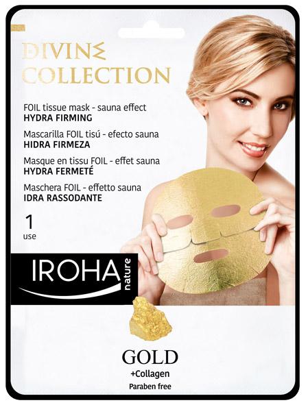 Златна стягаща лист маска за лице с 24К злато и колаген