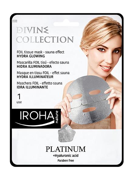 Платинена хидратираща лист маска за лице с хиауронова киселина и платина